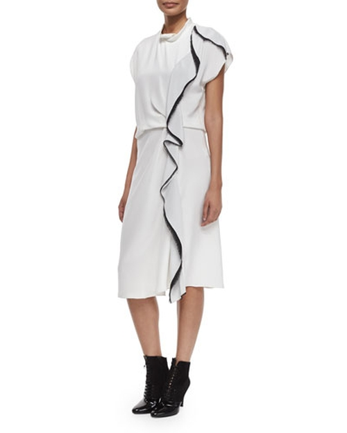 Distorted Ruffle Silk Dress by 3.1 Phillip Lim in Suits - Season 5 Episode 5