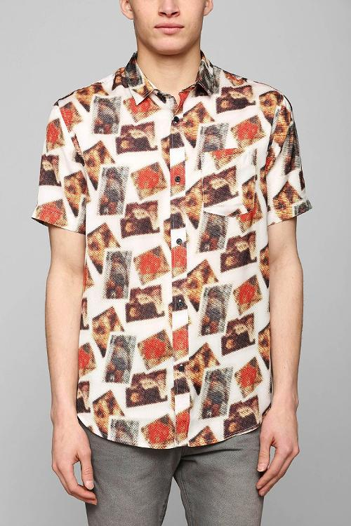Pin-Up Icon Button-Down Shirt by Devil's Harvest in Let's Be Cops