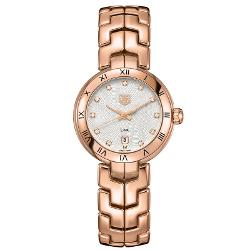 Women's Rose Gold Link Quartz Watch by Tag Heuer in The Other Woman