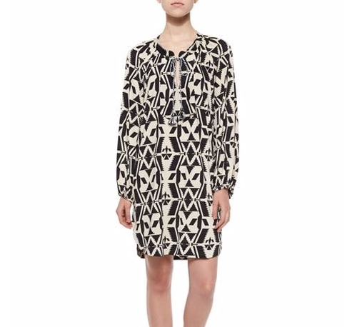 Tribal-Print Shift Shirtdress by T Bags  in The Good Wife - Season 7 Episode 16