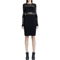 Zigzag Sheer Jacquard Dress by RVN NYC in We Are Your Friends