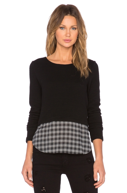 Coco Plaid Sweater by Generation Love in Scream Queens