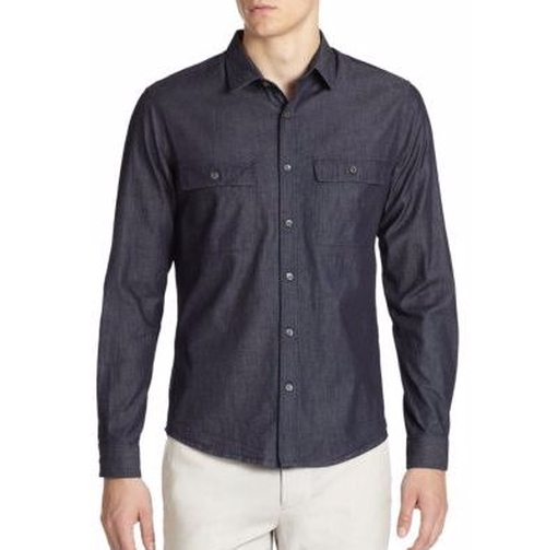 Barham Turini Denim Sportshirt by Theory in Joshy