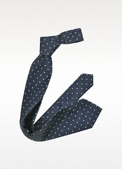 Outlined Diamond Pattern Woven Silk Tie by Forzieri in Unfinished Business