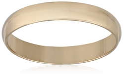 Men's 10k Yellow Gold 4mm Traditional Plain Wedding Band by Amazon Curated Collection in Warm Bodies