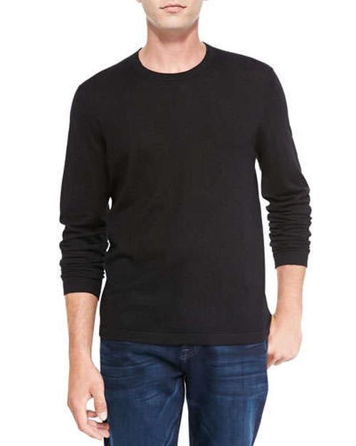 Superfine Cashmere Crewneck Sweater by Neiman Marcus in Prisoners