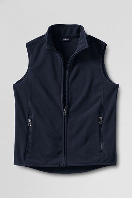 Fleece Vest by Land's End in Cut Bank