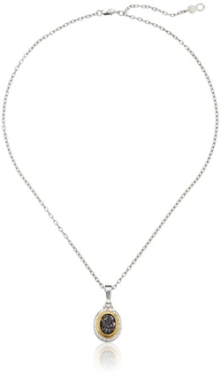 Sterling Silver Stone Pendant Necklace by Gurhan in Steve Jobs