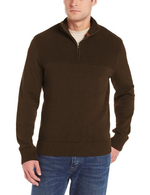 Texture Block Zip Mock Sweater by Dockers in If I Stay