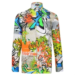 Graffiti Long Sleeved Shirt by Versace in Empire