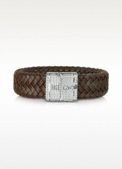 Rude Stainless Steel and Leather Men's Bracelet by Just Cavalli in If I Stay