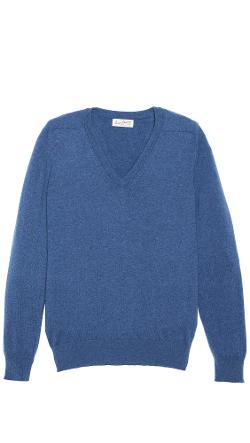 Slim Fit V Neck Sweater by Scott & Charters in New Year's Eve