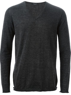 V Neck Sweater by Roberto Collina in New Girl