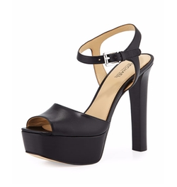 Trish Leather Platform Sandals by Michael Michael Kors in Shadowhunters