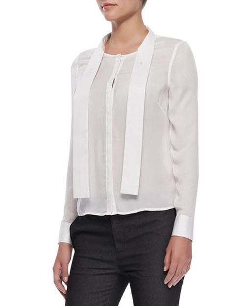 Ntalya Long-Sleeve Blouse by J Brand in Elementary