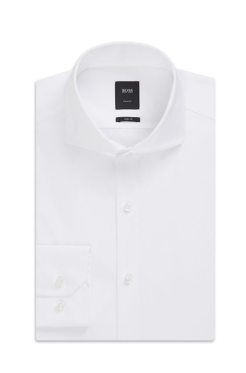 Spread Collar Cotton Blend Dress Shirt by Boss in Mission: Impossible - Rogue Nation