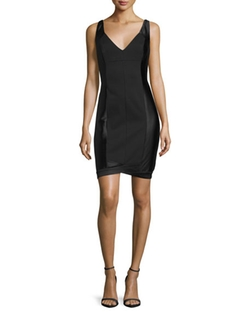 Sleeveless V-Neck Cocktail Dress by Halston Heritage  in Pretty Little Liars