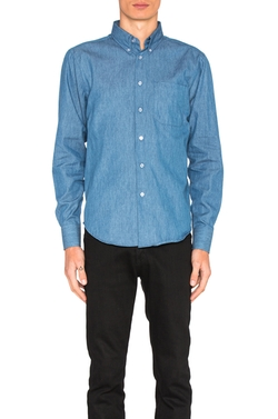 Regular Button Down Shirt by Naked & Famous Denim in Flaked
