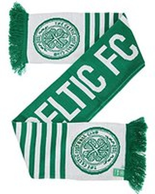 Football/Soccer Crest Wordmark Scarf by Celtic FC in Whiskey Tango Foxtrot