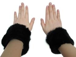 Mink Bracelets & Slap-On Cuffs by Furs New York in Scream Queens