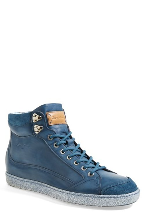 'Sabre' High Top Sneaker by Santoni in Begin Again
