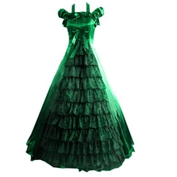 Floor-Length Off Shoulder Ruffled Victorian Dress by Partiss in Victor Frankenstein