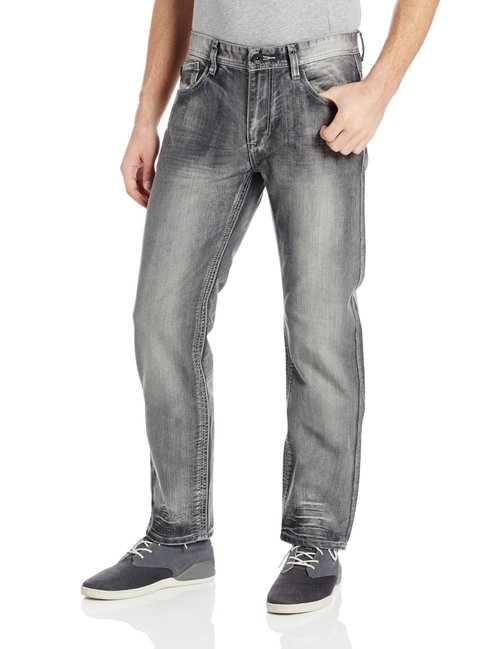 Men's Ice Washed Denim In 8180 Regular Straight Fit Jeans by Southpole in The Wolverine