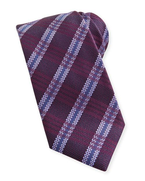 Striped Plaid Woven Tie by Brioni	 in Anchorman 2: The Legend Continues