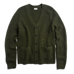Cashmere Novelty Rib Cardigan by Club Monaco in Legend