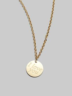 Yellow Gold Love Plus Necklace by Roberto Coin in Ride Along