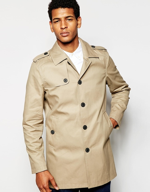 Trench Coat by Selected Homme in Arrow - Season 4 Episode 5