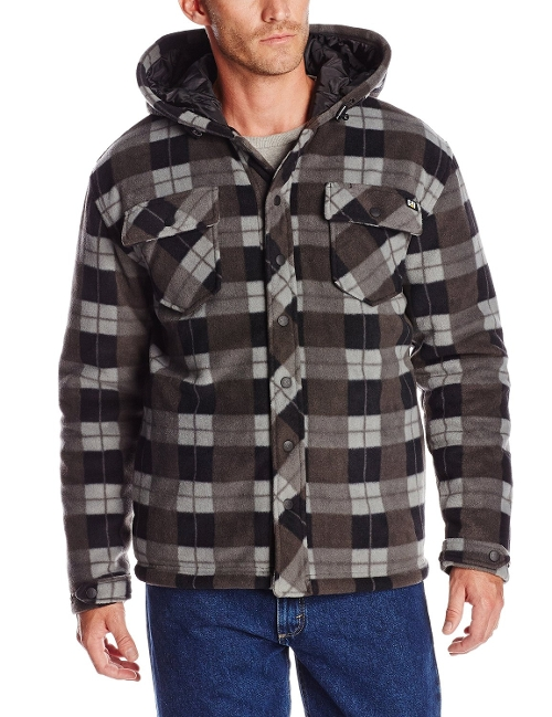 Hayward Sherpa-Lined Plaid Shirt Jacket by Rip Curl in Get Hard