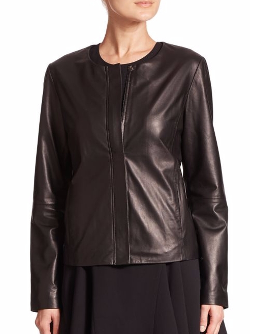 Leather Jacket by Saks Fifth Avenue Collection in How To Get Away With Murder - Season 2 Episode 10