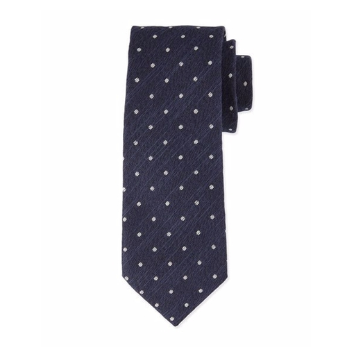Textured Dot-Print Silk Tie by Tom Ford in Ballers - Season 2 Episode 2