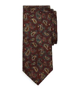 Ancient Madder Small Paisley Print Tie by Brooks Brothers in The Wolf of Wall Street