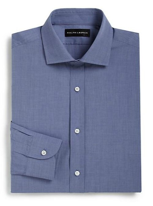 Classic-Fit Solid Dress Shirt by Ralph Lauren Black Label in Avengers: Age of Ultron
