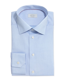 Solid Fine-Twill Dress Shirt by Eton in Suits