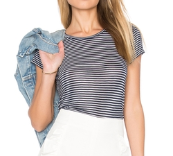 Therese Mini Stripe Tee by Velvet by Graham & Spencer in New Girl
