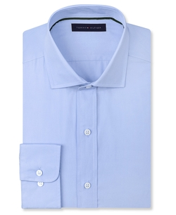 Solid Poplin Dress Shirt by Tommy Hilfiger in Unfinished Business