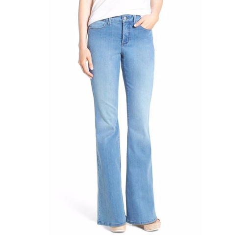 'Farrah' Stretch Flare Leg Jeans by NYDJ in The Good Place