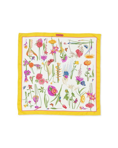 Floral-Print Foulard Scarf by Salvatore Ferragamo in Pitch Perfect 2