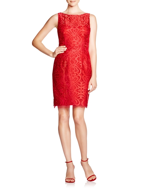 Sleeveless Lace Sheath Dress by Aidan Mattox  in Crazy, Stupid, Love.