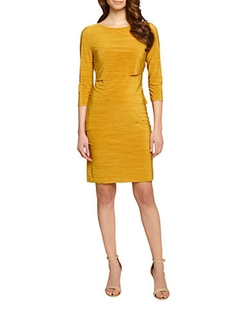 Tiered Sheath Dress by Tahari Arthur S. Levine in The Good Wife