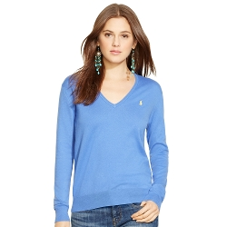 Cotton V-Neck Sweater by Ralph Lauren in Mean Girls