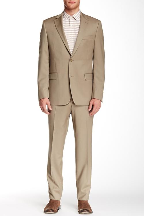 Notch Lapel Wool Suit by Ike Behar in By the Sea