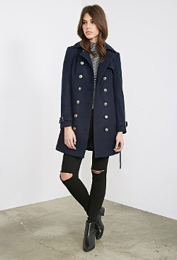 Belted Trench Overcoat by Forever 21 in Thor