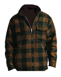 Men's Fleece Zip Up Plaid Jacket by Woodland Trails in If I Stay