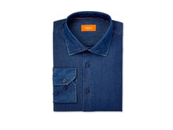 Men's Denim Shirt by Tallia  in Animal Kingdom