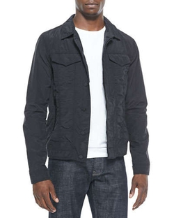 Nylon Trucker Jacket Black by J Brand Jeans	 in The Wolverine