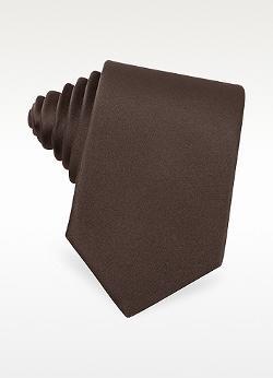 Solid Silk Skinny Tie by Moreschi in Yves Saint Laurent